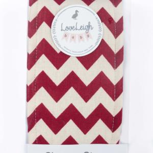 Sleepy Strap in Red Chevron