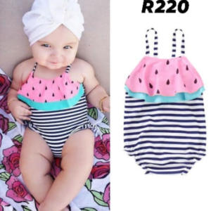 Ruffle Watermelon One-piece Swimsuit