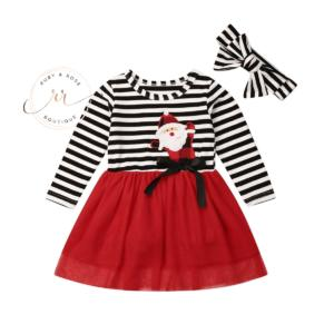 Black Striped Christmas Dress