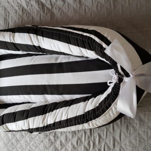 Black and White Striped Bumbumz Baby Nest