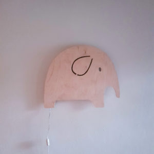 Elephant Wall Night Light