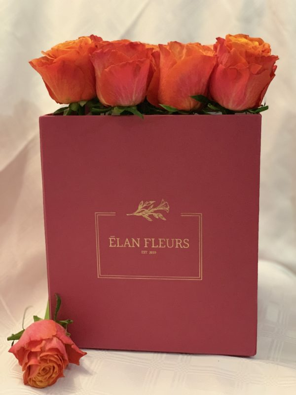 Pink Roses Flower Box R450