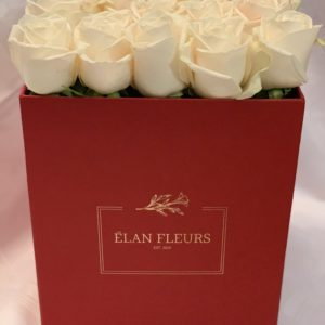 White Roses Flower Box R450
