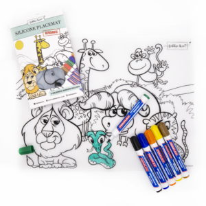Safari Reusable Silicone Coloring Place Mat