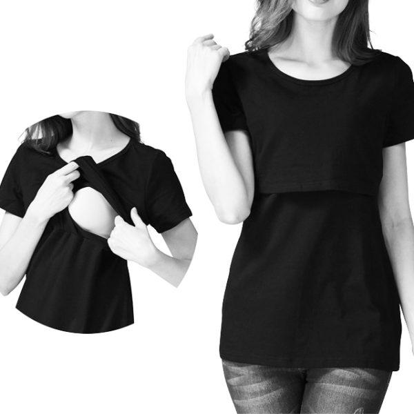 Short Sleeve Breastfeeding Shirt