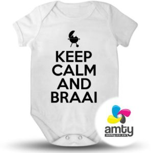 Keep Calm And Braai - Baby Vest