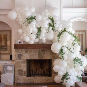 All_White_Balloon_Garland