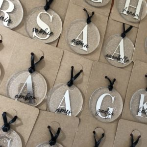 Monogram Nametags