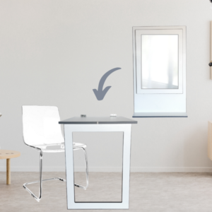 SpaceSave Fold Up Wall Mounted Desk Table 100x60cm